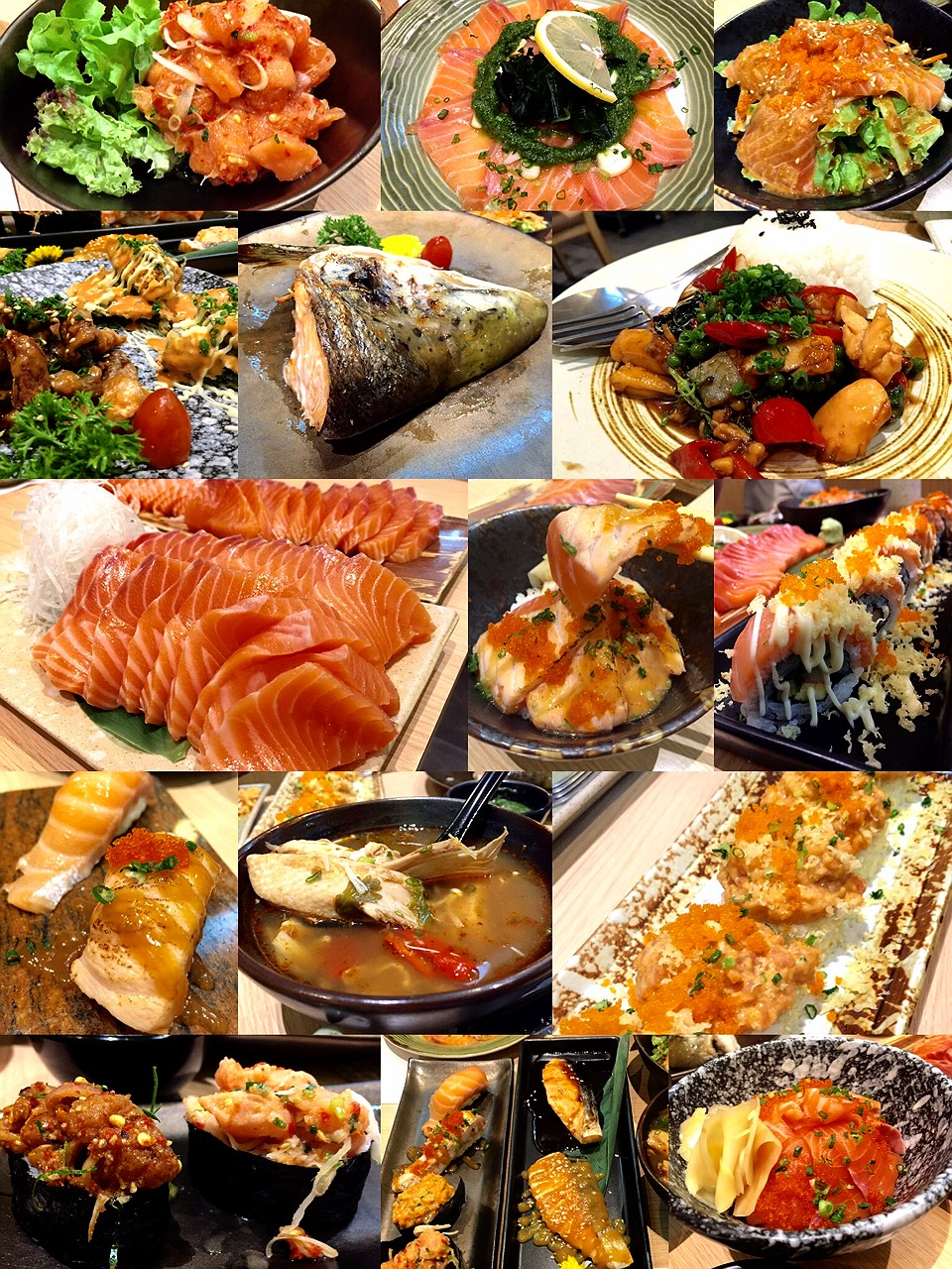 Fabulous Its All About Salmon Lover Real Salmon Buffet Readme Me Home Interior And Landscaping Dextoversignezvosmurscom